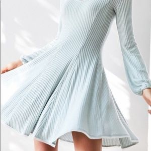 UO Ecote. Light blue A-line sweater dress.
